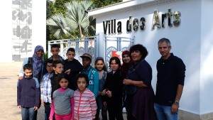 Visit of the Villa des arts in Rabat